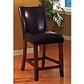 Empire Brown Bicast Leather Counter Stools (Set of 2)