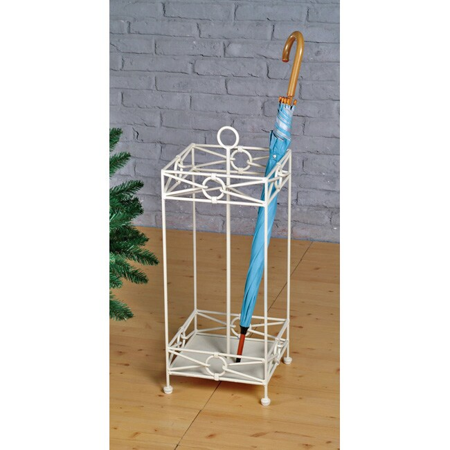 Iron Umbrella Stand with Water Tray