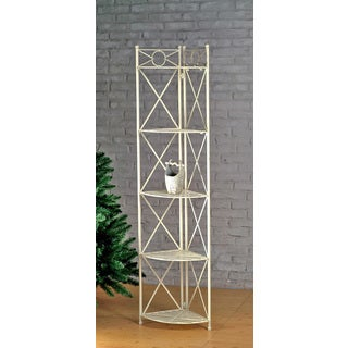 International Caravan Iron 5-tier Corner Shelf