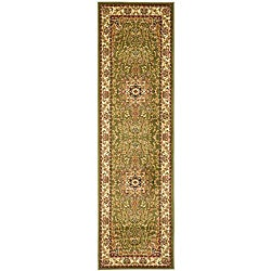 Lyndhurst Collection Sage/ Ivory Indoor/Outdoor Runner (2'3 x 14')