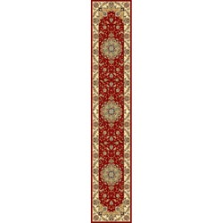 Lyndhurst Collection Red/ Ivory Runner (2'3 x 14')