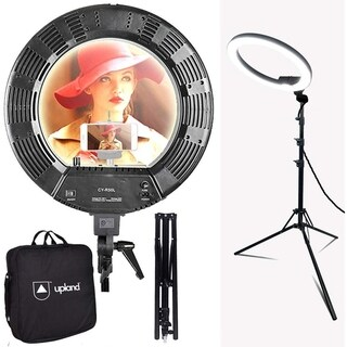 18-Inch LED Ring Light Starter Kit with Stand, 55W 5500K