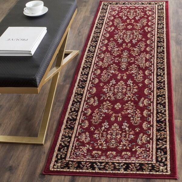 Safavieh Oriental Lyndhurst Collection Red/Black Runner (2'3 x 14')