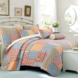 Cozy Line Antique Chic Reversible Bedding Quilt Set
