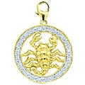 14k Gold 1/10ct TDW Diamond Scorpio Sign Charm