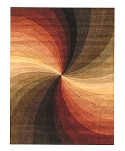 Hand-tufted Swirl Wool Rug (9' x 12')