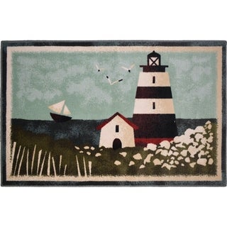 "Seaside Bayside Lighthouse rug - 30""x46"""