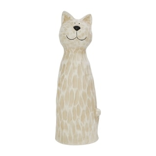 "Polyresin 18"" Cat Figurine, White"