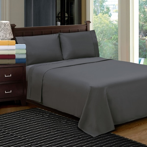 Egyptian Cotton 1200 Thread Count Solid Color Pillowcase Set