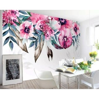 Peony Watercolor Floral Drawing TEXTILE Wallpaper