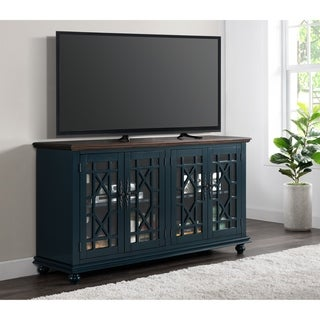 """Martin Svensson Home Palisades 63"""" TV Stand, Catalina Blue with Coffee Top"""