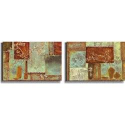 Axton/ Giddings 'Bloom Berry' 2-piece Art Set