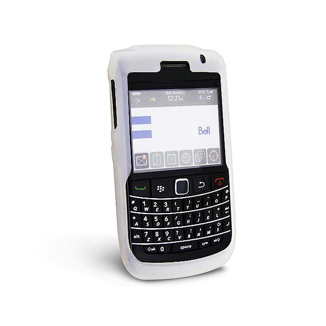 Eforcity Clear White Silicone Skin Case For Blackberry Bold 9700