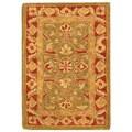 Safavieh Handmade Ancestry Green/ Red Wool Rug (2' x 3')