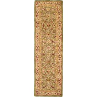 Safavieh Handmade Ancestry Green/ Red Wool Runner (2'3 x 8')