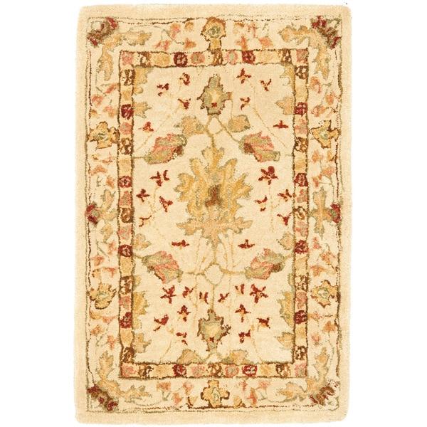 Safavieh Handmade Oushak Ivory Wool Rug (2' x 3')
