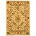 Handmade Oushak Ivory Wool Rug (2&#39; x 3&#39;)