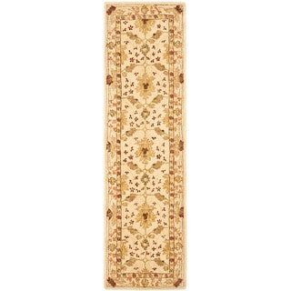 Handmade Oushak Ivory Wool Runner (2'3 x 10')