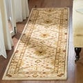 Handmade Oushak Ivory Wool Runner (2&#39;3 x 12&#39;)