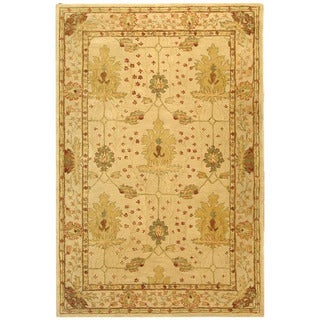 Handmade Oushak Ivory Wool Rug (9'6 x 13'6)