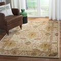 Handmade Oushak Ivory Wool Rug (9&#39;6 x 13&#39;6)
