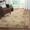 Handmade Oushak Ivory Wool Rug (8&#39; x 10&#39;)