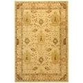 Handmade Oushak Ivory Wool Rug (9' x 12')