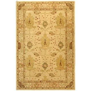 Handmade Oushak Ivory Wool Rug (6' x 9')