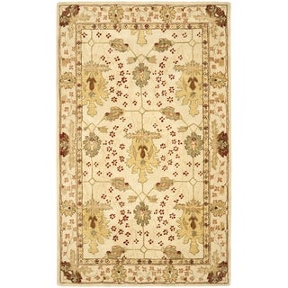 Safavieh Handmade Oushak Ivory Wool Rug (5' x 8')