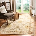 Handmade Oushak Ivory Wool Rug (5&#39; x 8&#39;)