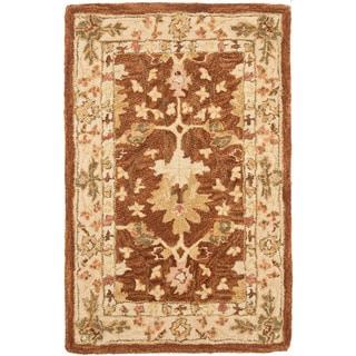 Safavieh Handmade Oushak Brown/ Ivory Wool Rug (2' x 3')