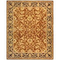 Safavieh Old World Hand-spun Brown Gold/ Plum Wool Rug (8' x 10')