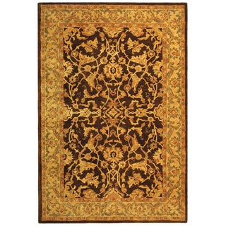 Handmade Old World Brown/ Tan Wool Rug (6' x 9')