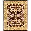 Handmade Old World Brown/ Tan Wool Rug (9' x 12')