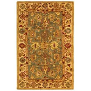 Safavieh Handmade Heirloom Blue/ Ivory Wool Rug (3' x 5')