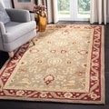 Safavieh Handmade Kashan Green/ Red Wool Rug (9' x 12')