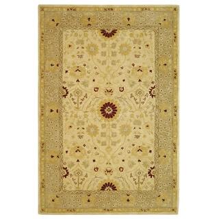 Safavieh Handmade Timeless Ivory/ Sand Wool Rug (6' x 9')