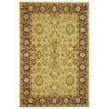 Safavieh Handmade Mashad Ivory/ Red Wool Rug (9' x 12')
