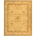 Handmade Treasured Sand Wool Rug (9'6 x 13'6)