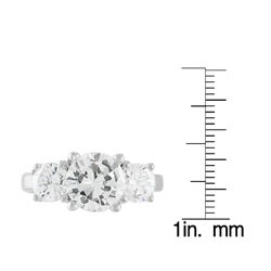 Journee Sterling Silver 3-stone Cubic Zirconia Ring