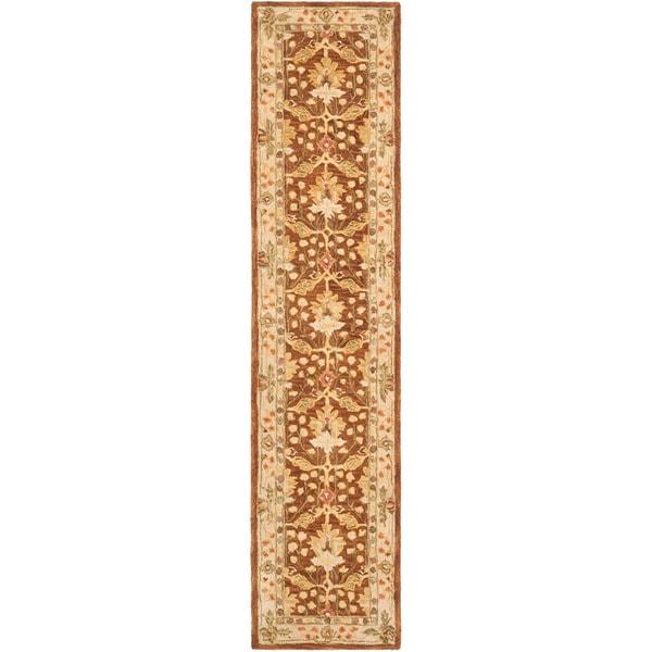 Safavieh Handmade Oushak Brown/ Ivory Wool Runner (2'3 x 10')