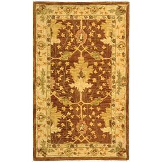 Safavieh Handmade Oushak Brown/ Ivory Wool Rug (3' x 5')