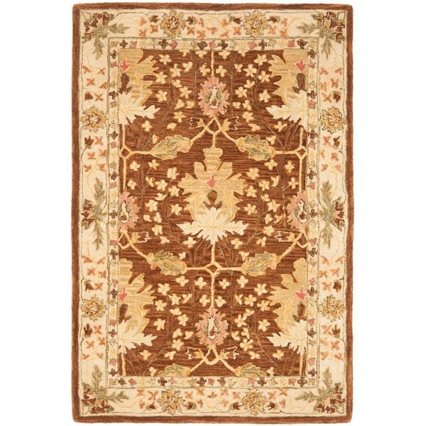 Safavieh Handmade Anatolia Oushak Brown/ Beige Wool Rug (4' x 6')