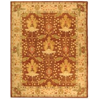 Safavieh Handmade Oushak Brown/ Ivory Wool Rug (9'6 x 13'6)