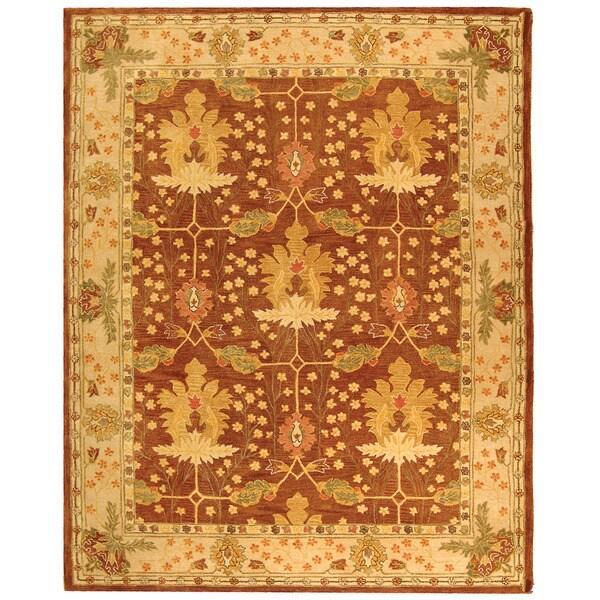 Safavieh Handmade Anatolia Oushak Brown/ Beige Wool Rug (9'6 x 13'6)