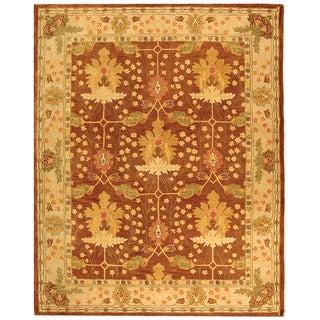 Handmade Oushak Brown/ Ivory Wool Rug (8' x 10')