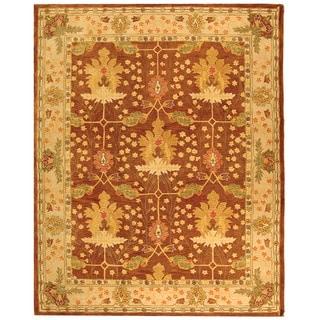Safavieh Handmade Anatolia Oushak Brown/ Beige Wool Rug (9' x 12')