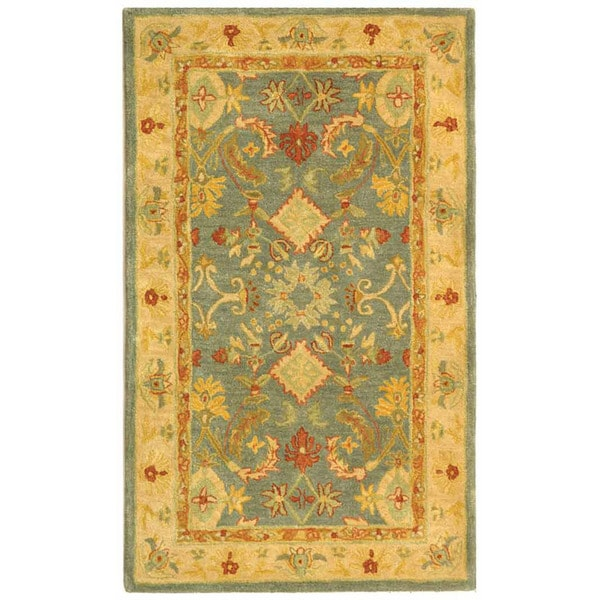 Safavieh Handmade Legacy Light Blue Wool Rug (3' x 5')