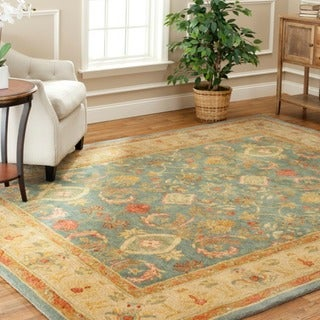 Handmade Legacy Light Blue Wool Rug (8' x 10')