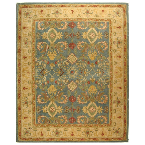 Safavieh Handmade Legacy Light Blue Wool Rug (5' x 8')
